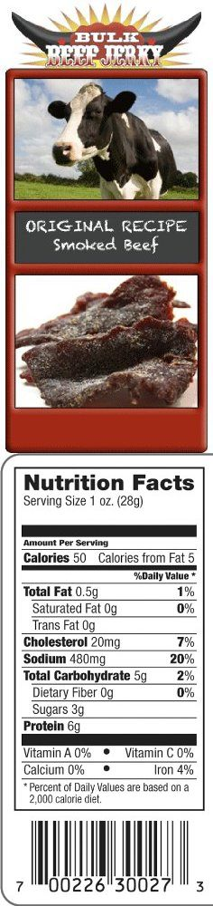 Original Recipe Smoked Beef Jerky, 1/2 Lb (8oz) -Bulk Beef Jerky, This is a moist jerky seasoned with spices that will have your mouth crying mercy.  A flavorful premium meat dried to perfection.  Bulk Beef Jerky's Original Recipe Smoked Beef Jerky has an impeccab..., #Grocery, #Jerky & Dried Meats, $12.42