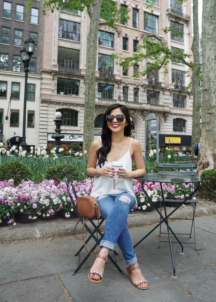 Coffee Date Outfit in Bryant Park