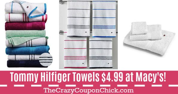 **SUPER HOT** Tommy Hilfiger Bath Towels ONLY $4.99 (Originally $16) at Macy's!