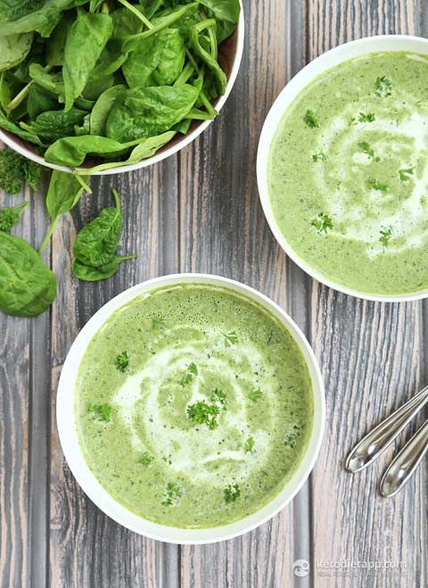 The KetoDiet Blog | SuperFood Keto Soup - cauliflower spinach, onions, watercress... this sounds amazing! 6.8 net carb grams per serving