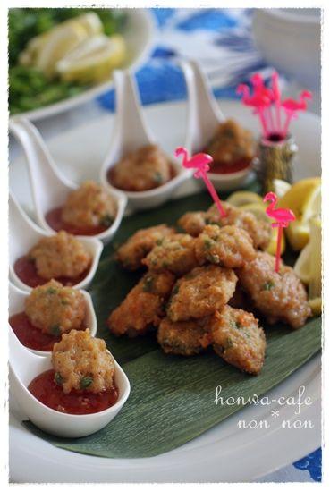 「簡単タイ料理*トートマンクン~エビのさつま揚げ~」:のんのんさんのかんたん♪おもてなしレシピ:レシピブログ