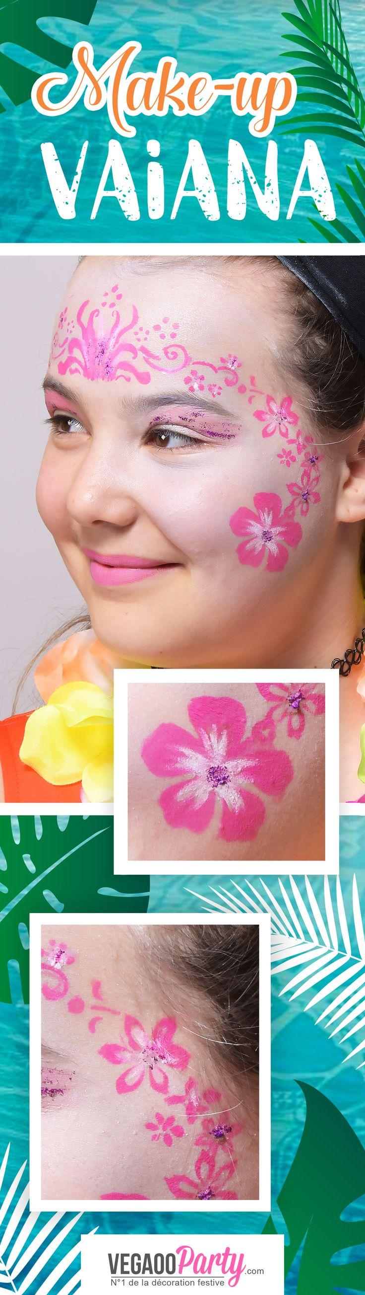 DIY : le makeup Vaiana ! Pour bien compléter la fête d'anniversaire de votre fille !