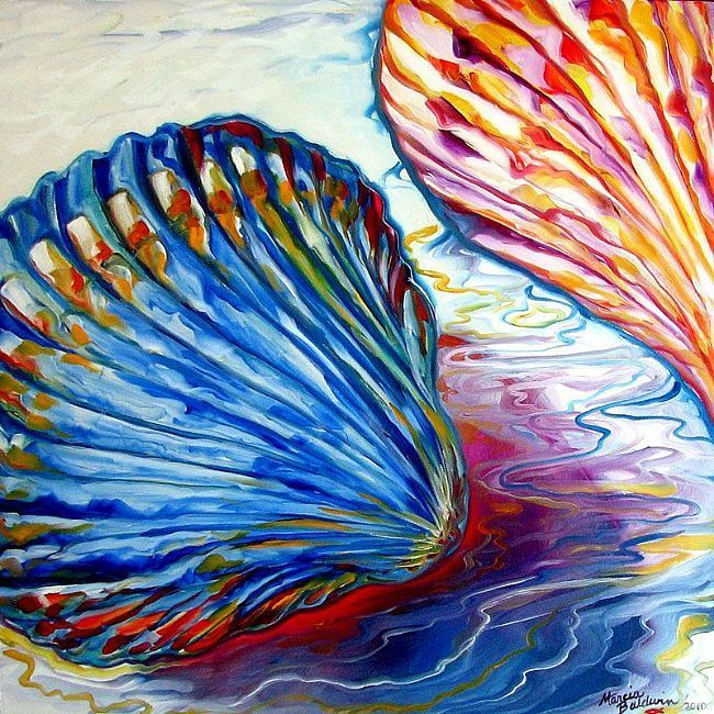 Art: SEASHELLS ABSTRACT 24 by Artist Marcia Baldwin