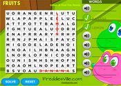 Fruits Vocabulary Crossword Puzzle Online for EFL, ESL Learning