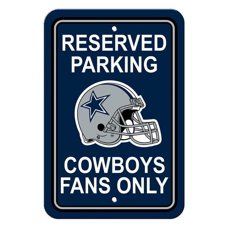 Dallas Cowboys NFL Football Parking Sign