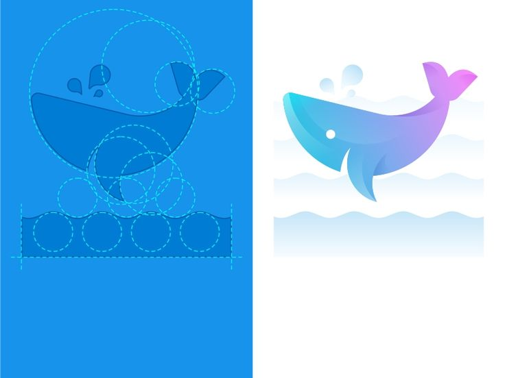 SA9527- Whale icon by sayue #Design Popular #Dribbble #shots