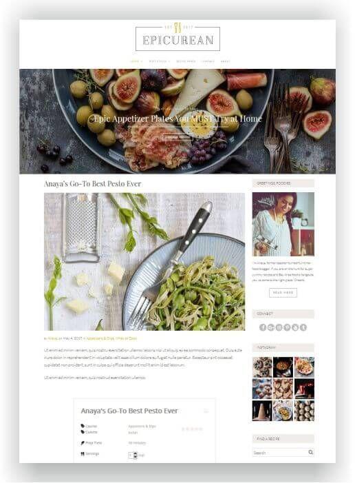 wordpress recipe blog template with wp ultimate recipe plugin