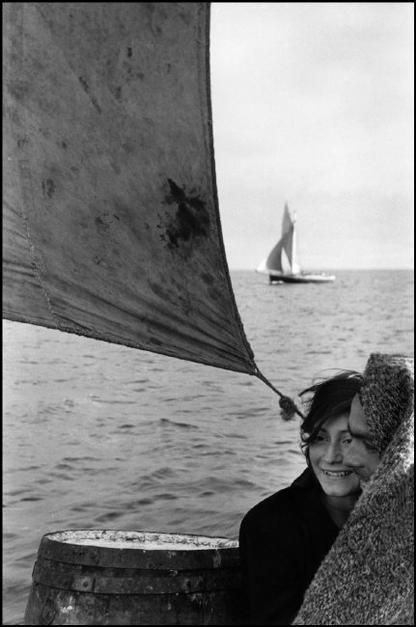 CHILE. 1957. South of Chile. Couple on sailing trip from Chiloe Island to Puerto Montt. Sergio Larrain Magnum Photos Photographer Portfolio