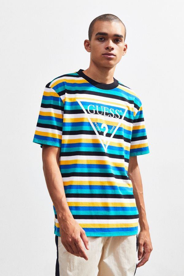 high quality special for shoe free delivery GUESS UO Exclusive Vista Striped Tee in 2019   Mens tops ...