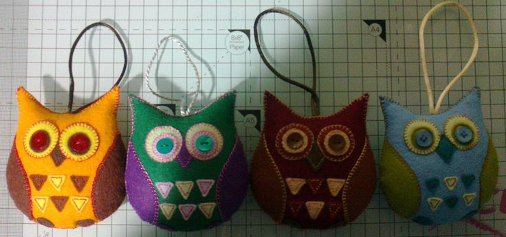Little Owls handcrafted from felt