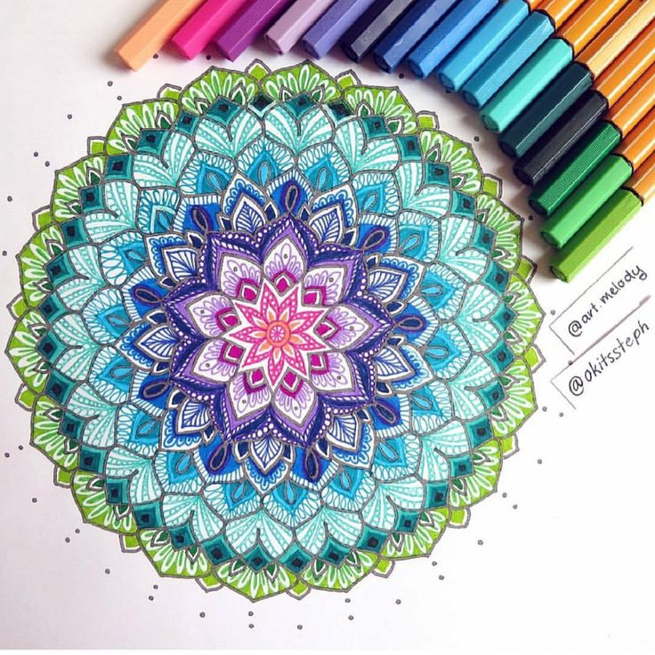 "STABILOPhilippines on Instagram: ""Make your Mandalas Colorful by using STABILO #Point88 Thanks @art.melody for sharing this awesome work """