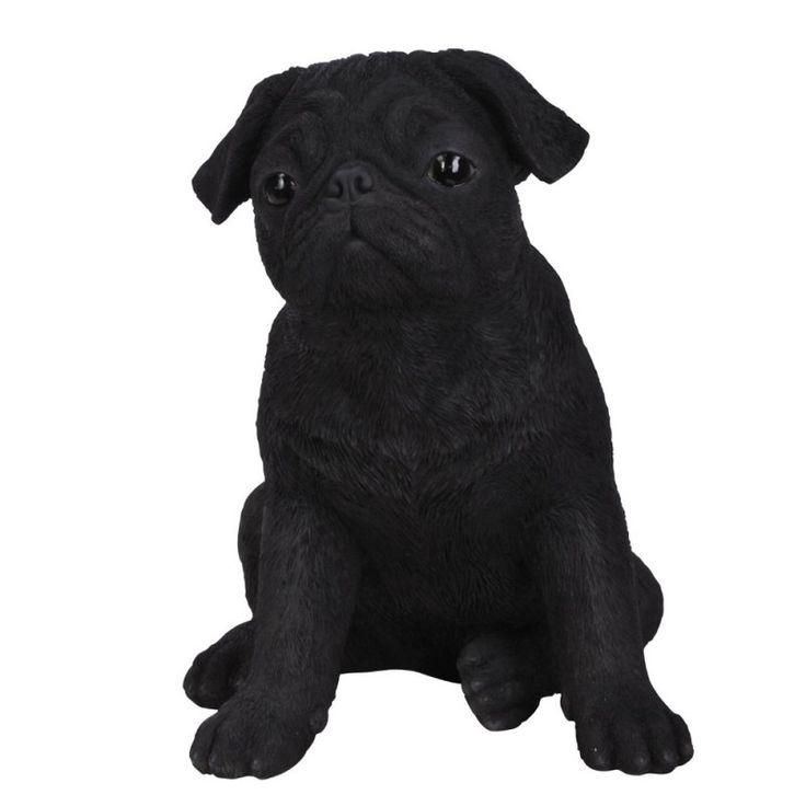 Real Life Carlino Pug Negro 29cm - Figurika