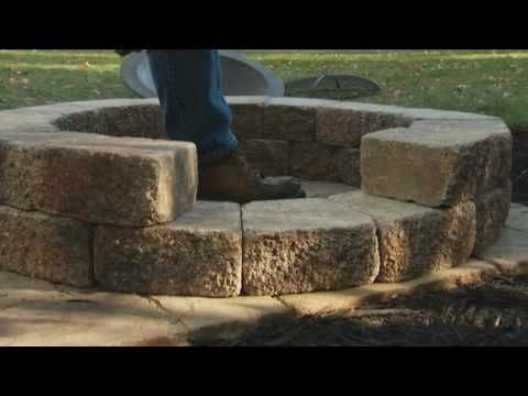DIY video for the garden! Great fireplace idea