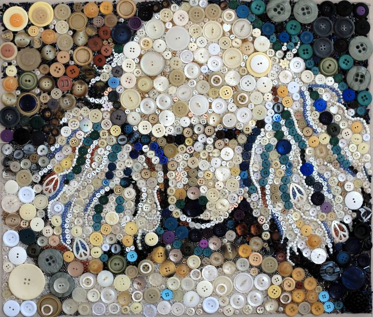 Missy, painted with buttons by her Mom, Sally T.