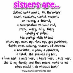 sister quotes - Google Search