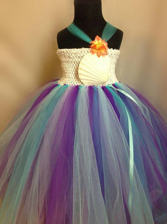 Mermaid Dress Under The Sea Dress Beach Theme by TulleandHook