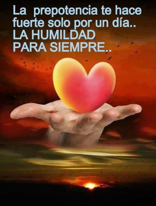 Imagen con reflexión sobre humildad | Frases de Amor | Imagenes ...