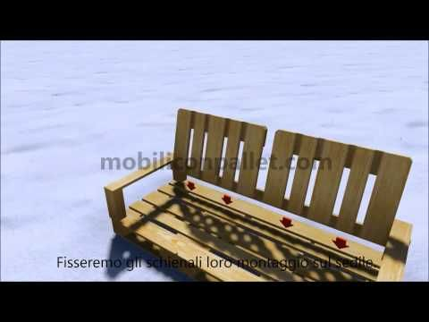 Divano Pallet per il vostro giardino - YouTube
