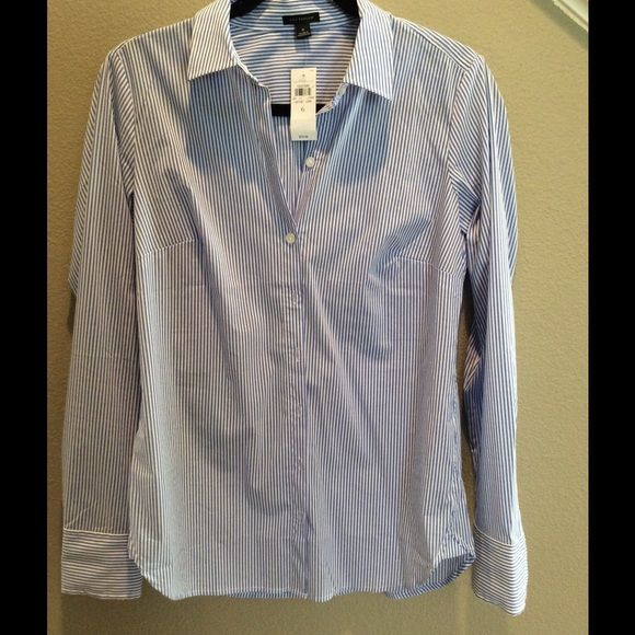 NWT Blue and White Top Super cute NWT blue and white stripped Ann Taylor Top Ann Taylor Tops