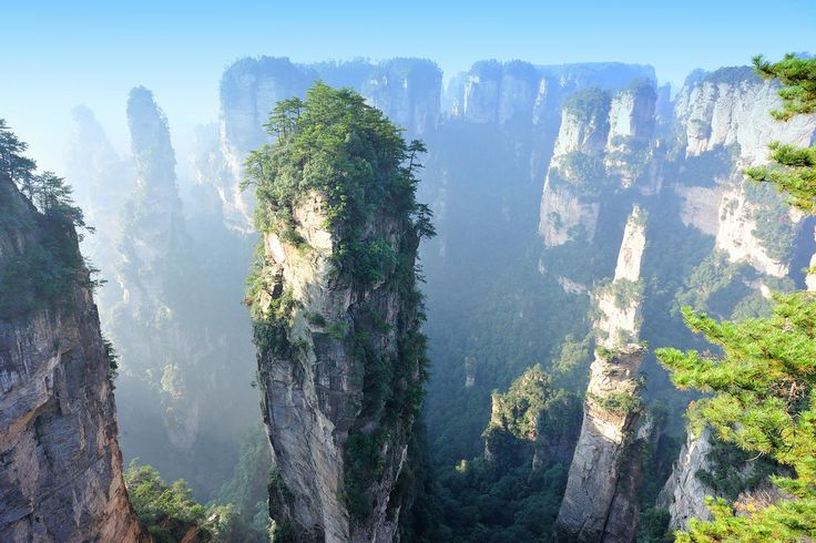 It's not CGI, but it could be. The Zhangjiajie National Forest Park, China, is breathtaking