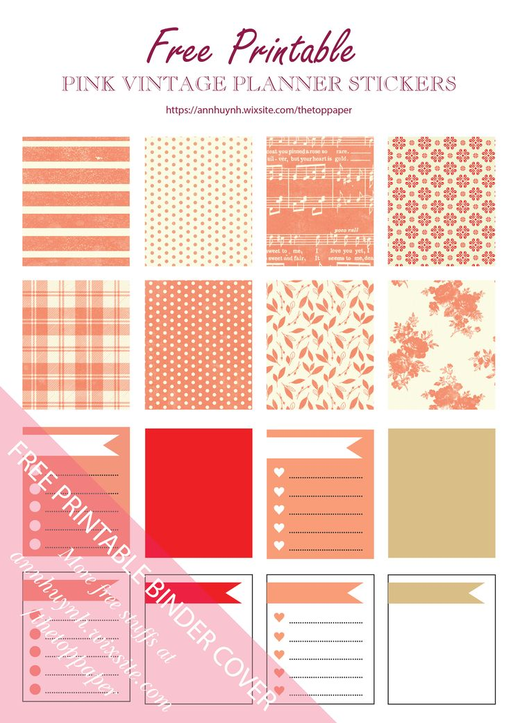 Free Printable Orange Autumn Planner Stickers from The Top Paper