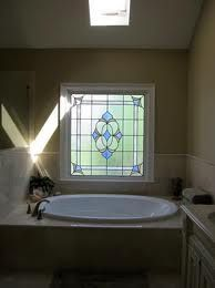 travertine bathroom with leadlight window - Google Search
