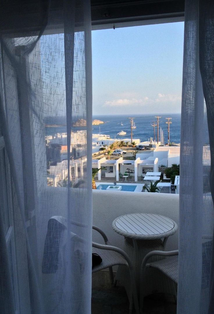 """Breathtakingly Romantic Boutique Hotel"" Frame your most amorous moments with airy sea views enjoyed from the comfort of your cozy Palladium Boutique Hotel, Mykonos haven… Thank you ""KLW2988"" for your glowing 5-star review!  http://bit.ly/1KQLUdC"