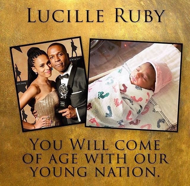 Congratss Leslie and Nicolette!! Lucille Ruby will come of age with our young nation ❤️