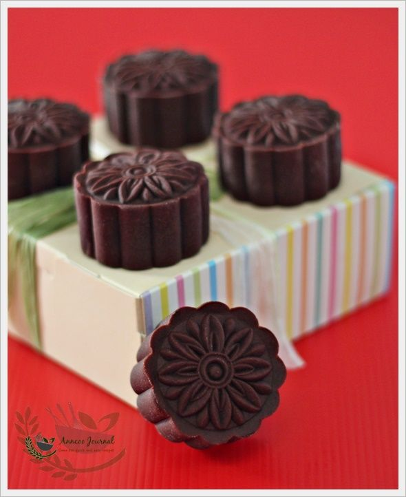 Baked Chocolate Mooncakes | Anncoo Journal - Come for Quick and Easy Recipes