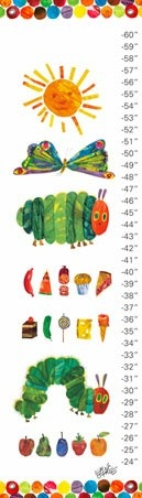 """""""Eric Carle's The Very Hungry Caterpillar™"""" - Customizable Growth Chart from Oopsy daisy, Fine Art for Kids!"""