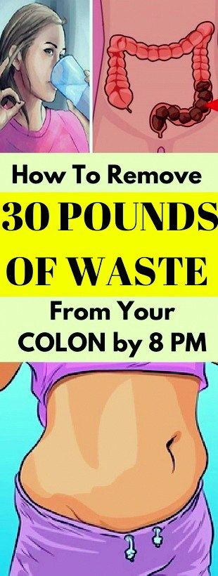 It's almost hard to believe that 20-30 pounds of waste could be stuck in your