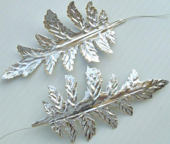 60 best diy paper craft leaves images on pinterest diy for Silver foil paper craft