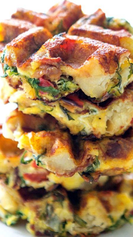 Frittaffle Recipe ~ a breakfast fusion of frittatas and waffles.