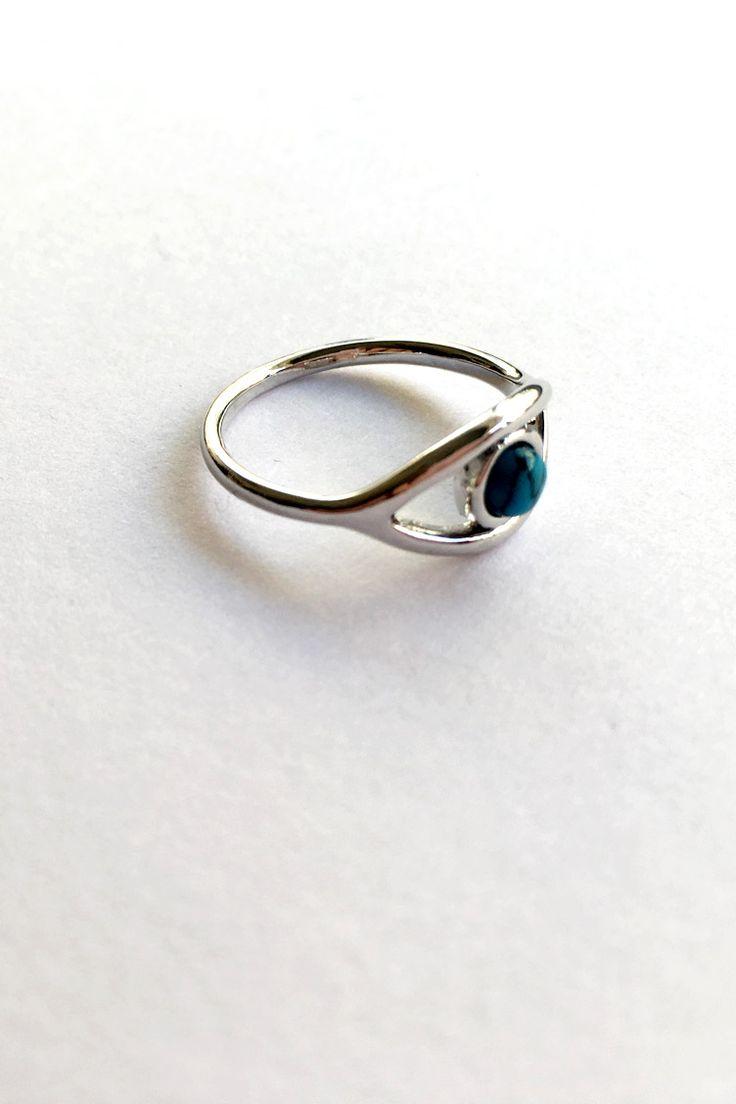 Blue Eye Δαχτυλίδι - Ασημί - 9,90 € - http://www.ilovesales.gr/shop/blue-eye-dachtylidi-asimi/