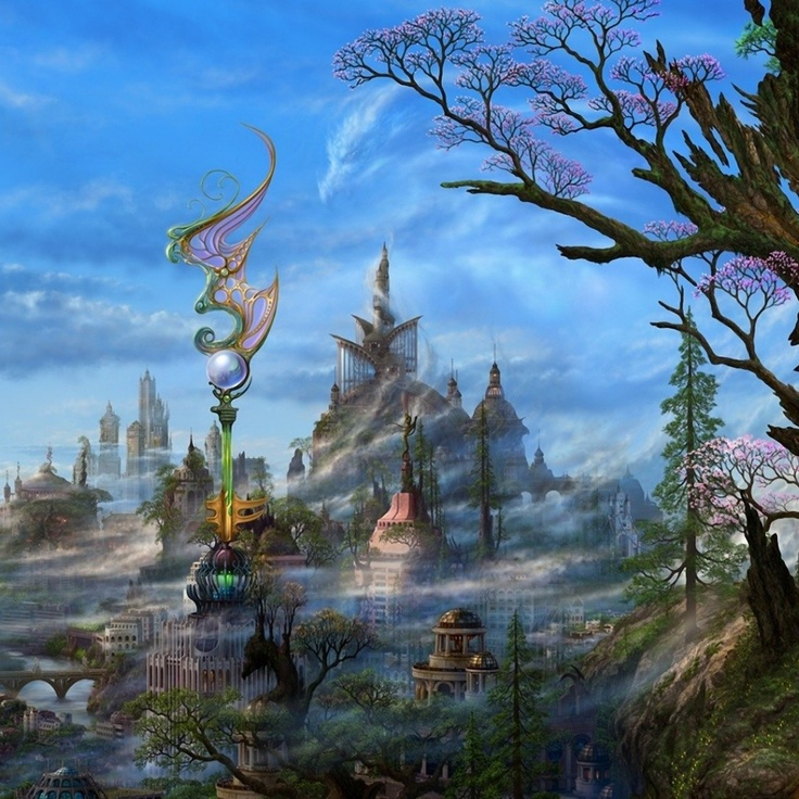 Fantasy Landscape Wallpaper: 17 Best Images About Artist: UCHIO, Kazumasa On Pinterest