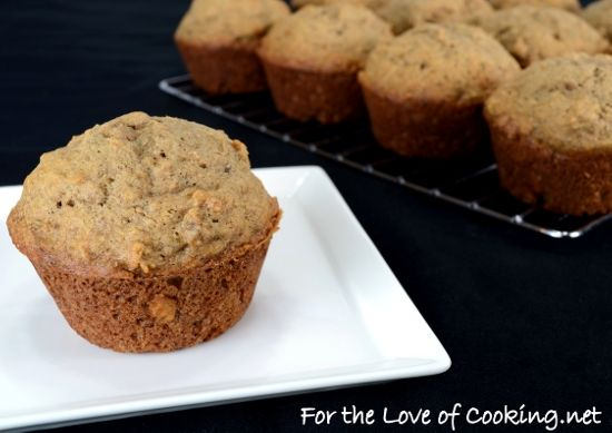 Roasted Banana Muffins by For the Love of Cooking