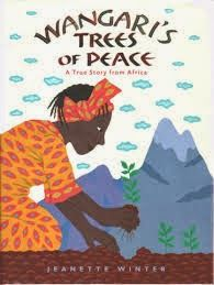 This picture book is about Wangari Maathai, the 2004 Nobel Peace Prize winner from Kenya who started the Green Belt Movement.  Over 30 million trees were planted in the first 30 years of the movement. Review by Reederama.