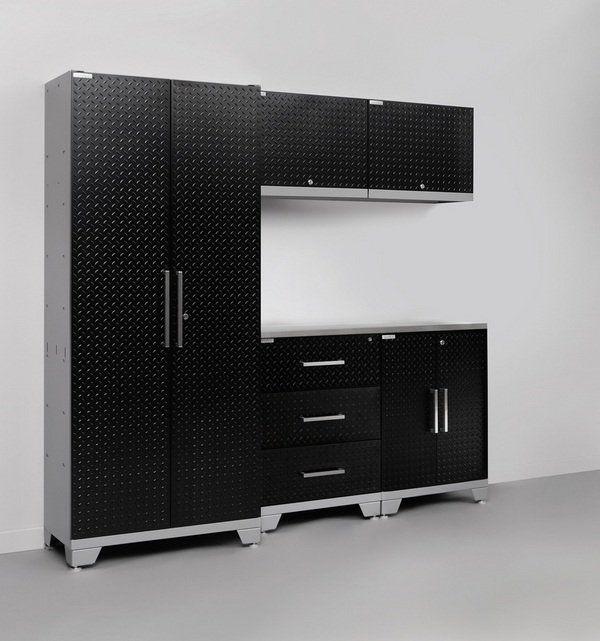 Black Steel Garage Cabinets