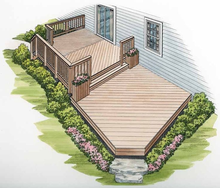 98 best images about deck designs on pinterest deck for Split level garden decking