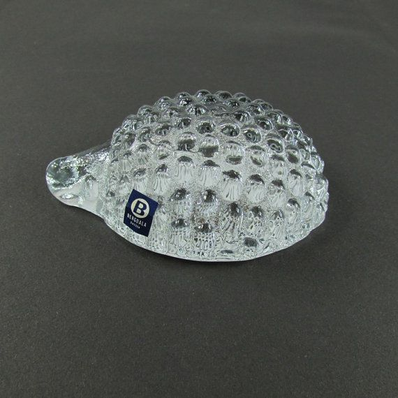 Art Glass  Hedgehog Paperweight by Bergoala by MjsFunkandJunk, $34.99