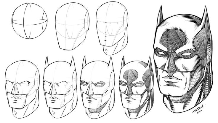 Batman Mask How to Draw Step by Step Tutorial by robertmarzullo.deviantart.com on @DeviantArt