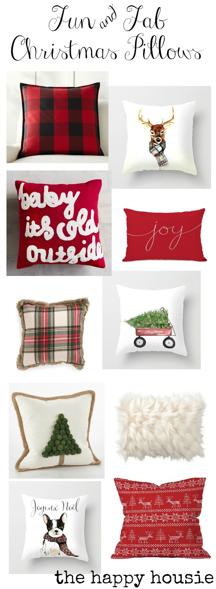 super-fun-and-fab-christmas-pillows-with-plaid-buffalo-check-christmas-typography-fur-and-cute-designs-by-craftberry-bush