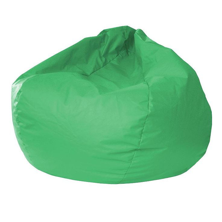 Small Faux Leather Bean Bag Chair, Green