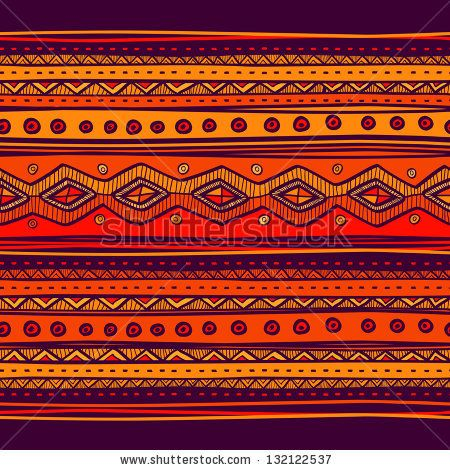 Abstract hand-drawn ethno pattern, tribal background. Pattern can be used for wallpaper, web page background, others. Bright vector tribal t...