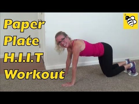 Cardio HIIT Paper Plate Full Length Workout - Exercise at Home for Weigh...