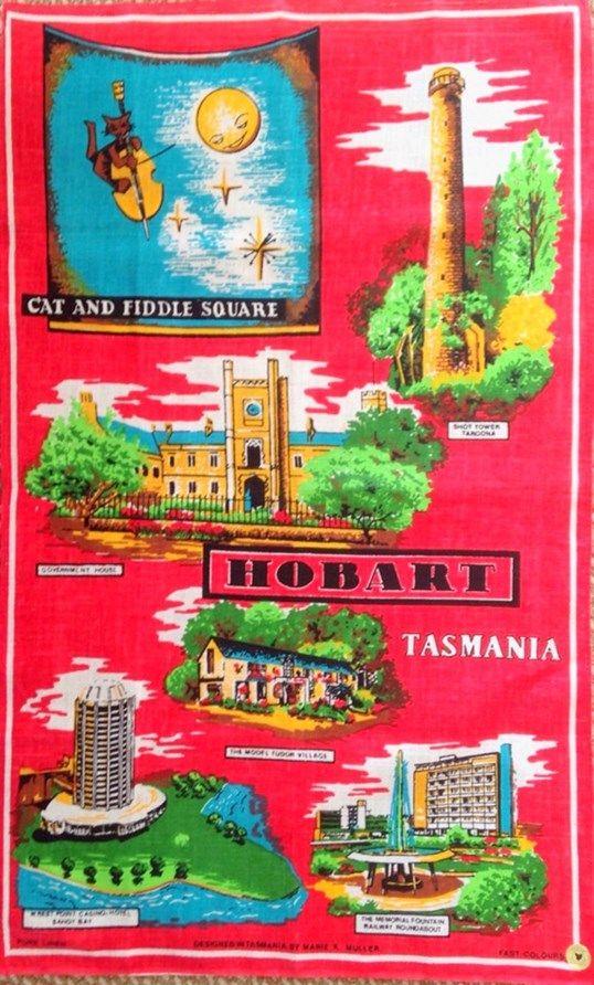 Hobart Tasmania Tea Towel