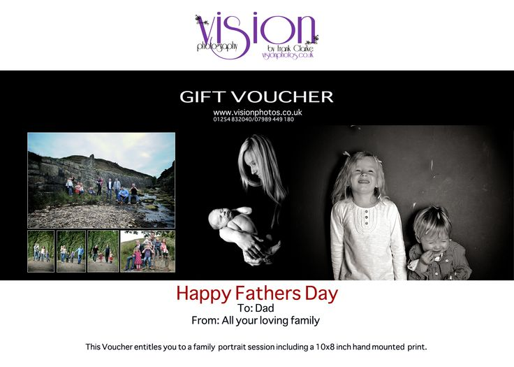 FATHERS DAY IS COMING 18TH JUNE!!  *****************GIFT VOUCHERS AVAILABLE.******************  SPECIAL FATHERS DAY VOUCHER ONLY £45 INCLUDES:  Full Portrait Shoot in Our Brand New Studio 10x8 Inch Print of your Choice, hand mounted. Personalized Gift Voucher Sent to you. No Obligation to buy further prints or products. WORTH £125  #fathersdaygift #fathersday #fathersdayvoucher #photographyvoucher #lancashirephotographer #photographystudio