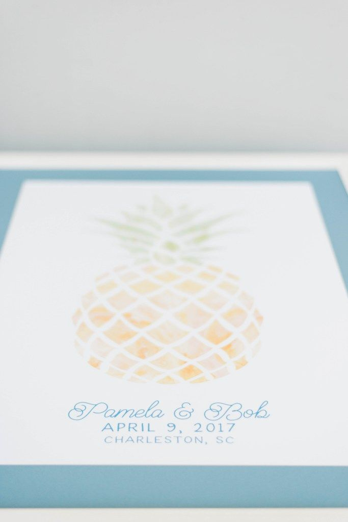 Pineapple Wedding Invitations| Charleston Elegant Outdoor Wedding at The Gadsden House | Du Soleil Photographie