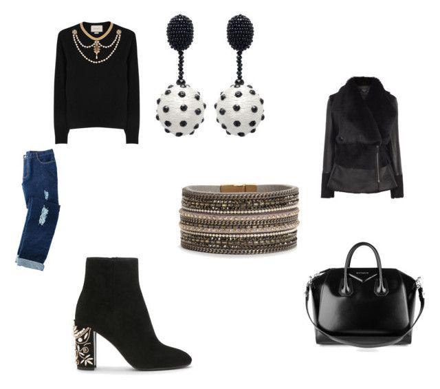 """outfit48"" by missfede on Polyvore featuring moda, Gucci, Avon, Oscar de la Renta e Givenchy"