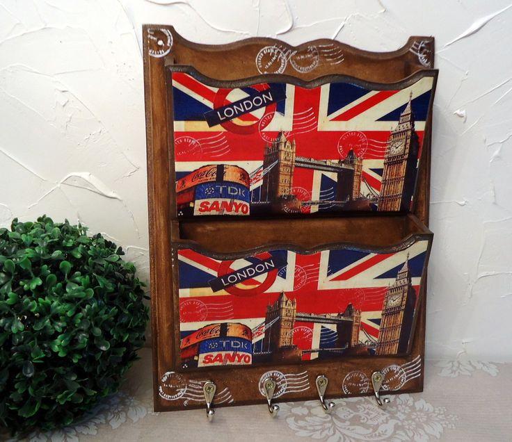 Porta Cartas/ chaves Duplo England | Dona Abelha | Elo7